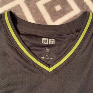 Uniqlo Shirts - Gray with green accent. Dri fit shirt